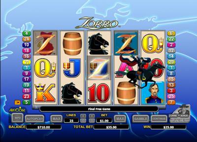 Free Slot Games Zorro